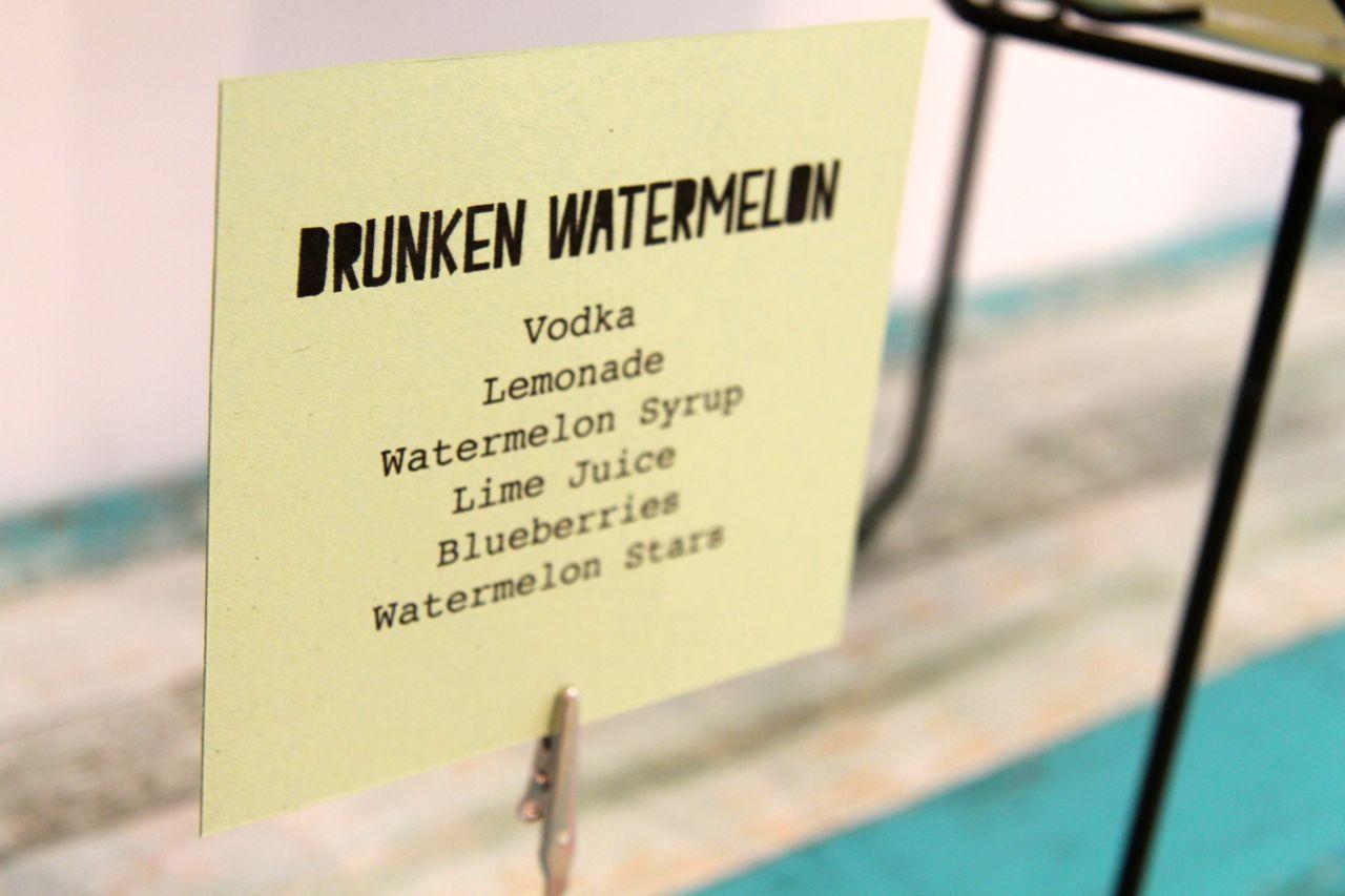 cocktail recipe - drunken watermelon