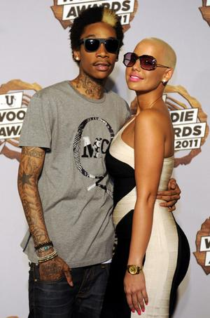 amber rose and wiz khalifa in paris. house wiz khalifa amber rose