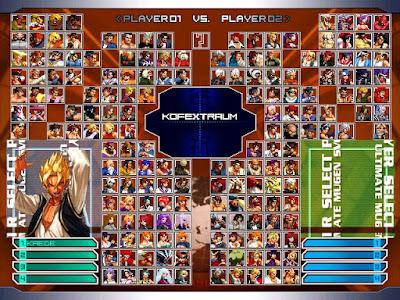 KOF-EXTRAUM Plus硬碟版下載,結合格鬥天王拳皇、快打旋風(街頭霸王)、豪血寺、侍魂、月華劍士等超多人物的格鬥遊戲!