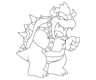 #1 Bowser Coloring Page