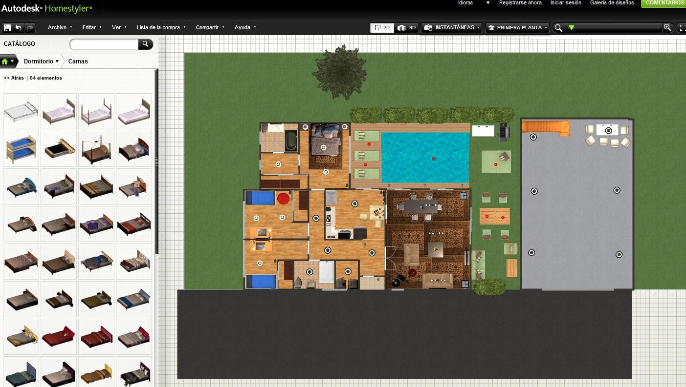 Recursos y utilidades de internet crear planos y dise ar for Disenar casa online con autodesk homestyler