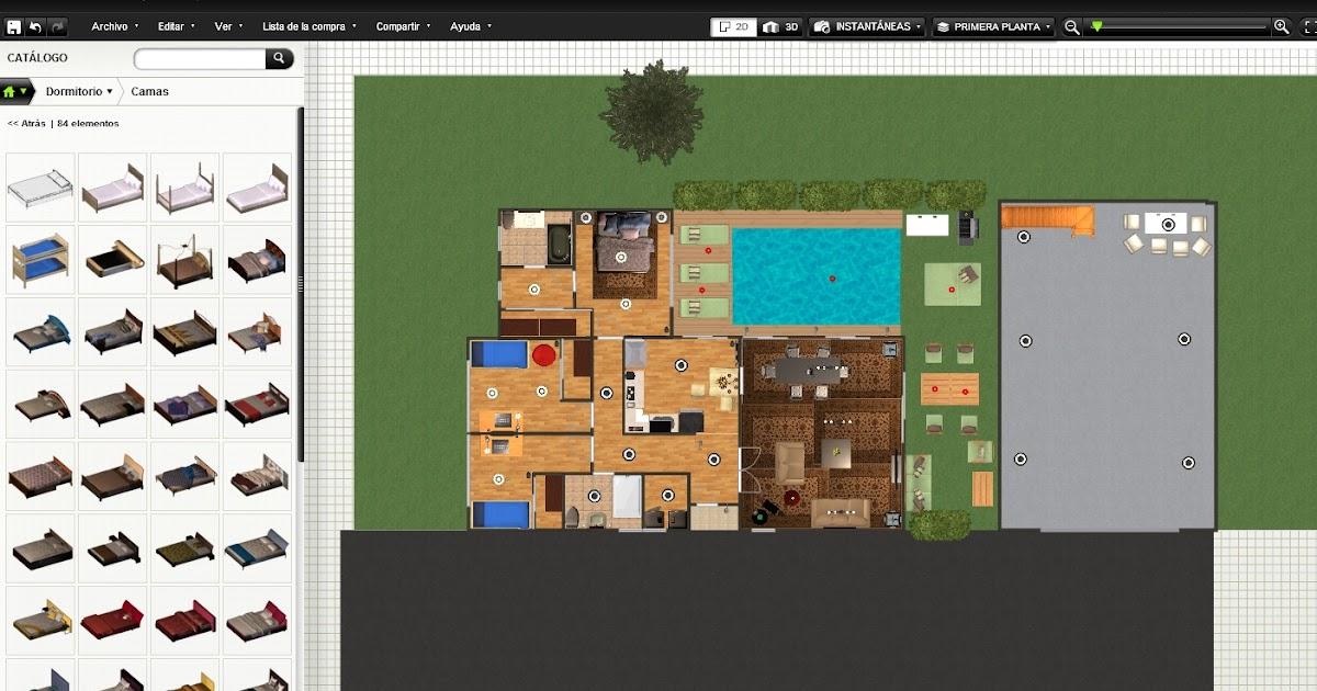 Recursos y utilidades de internet crear planos y dise ar interiores ii - Disenar interiores online ...
