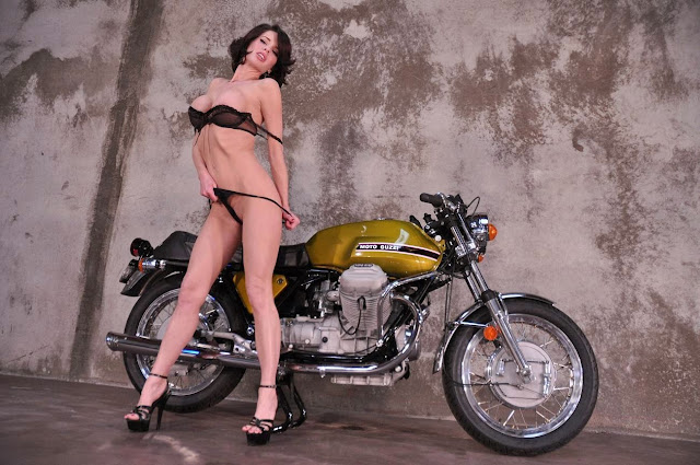 Moto Guzzi Girl Poster