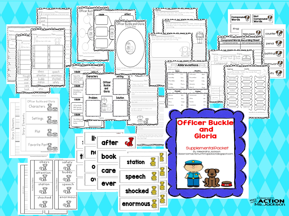 http://www.teacherspayteachers.com/Product/Officer-Buckle-and-Gloria-Journeys-Reading-1548220