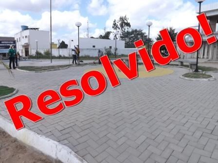 Praça entre as avenidas Sul e Centro tem serviço concluido.