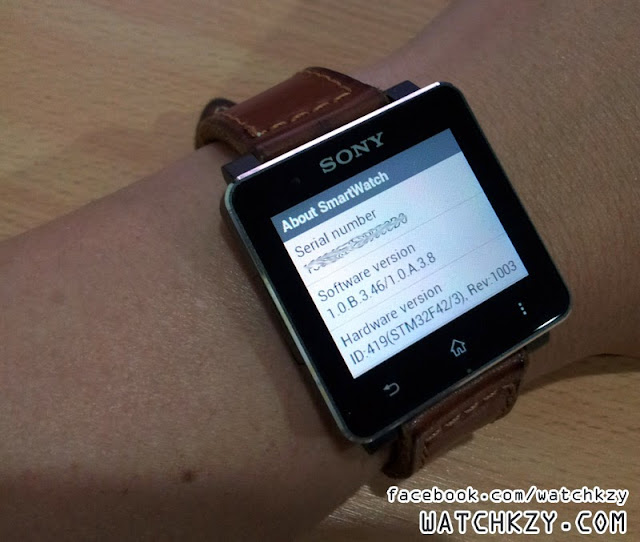 Sony SmartWatch 2 - new software version 1.0.B.3.46/1.0.A.3.8