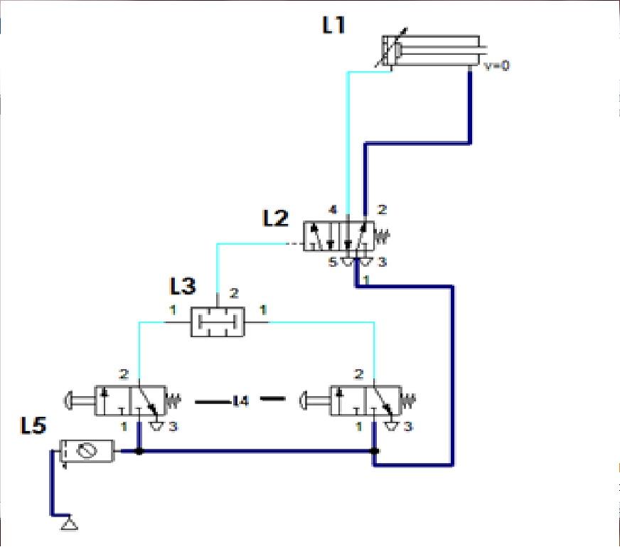 Circuito Neumatico Simple : Circuitos neumaticos eso hydraulic actuators