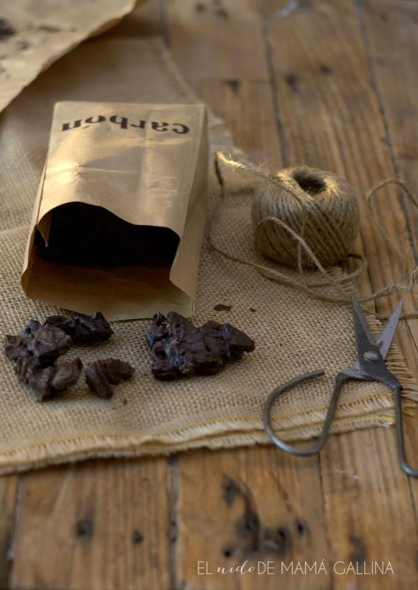 carbón de chocolate