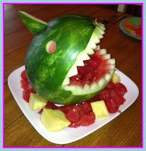 Jaws Visits Phoebe's Luau!