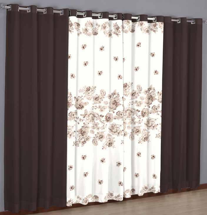 A g n representa es cortinas combinadas - Cortinas estampadas para salon ...