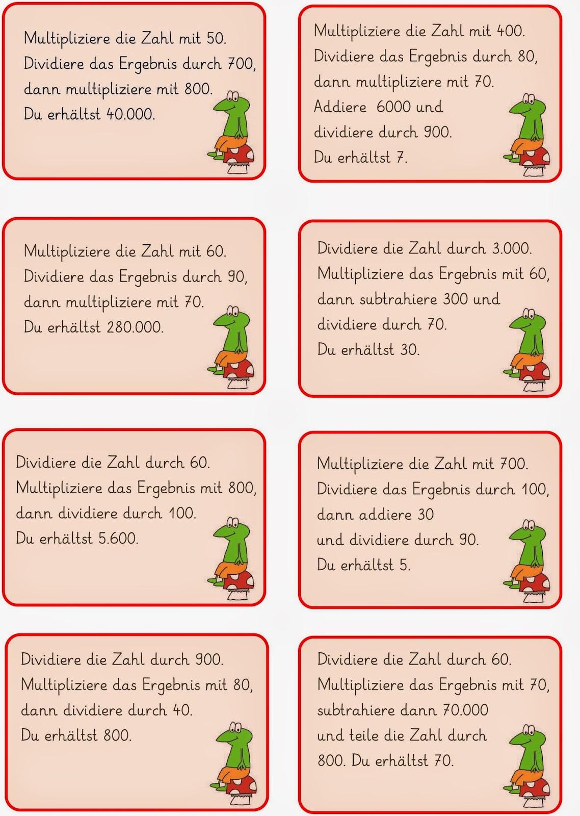 Lernstu00fcbchen: Kettenaufgaben im ZR 1 Million
