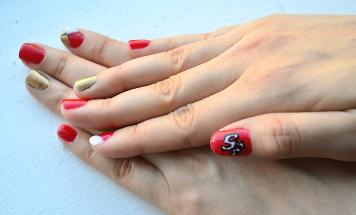 niners nail art