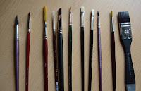 Sulu boya fırçaları