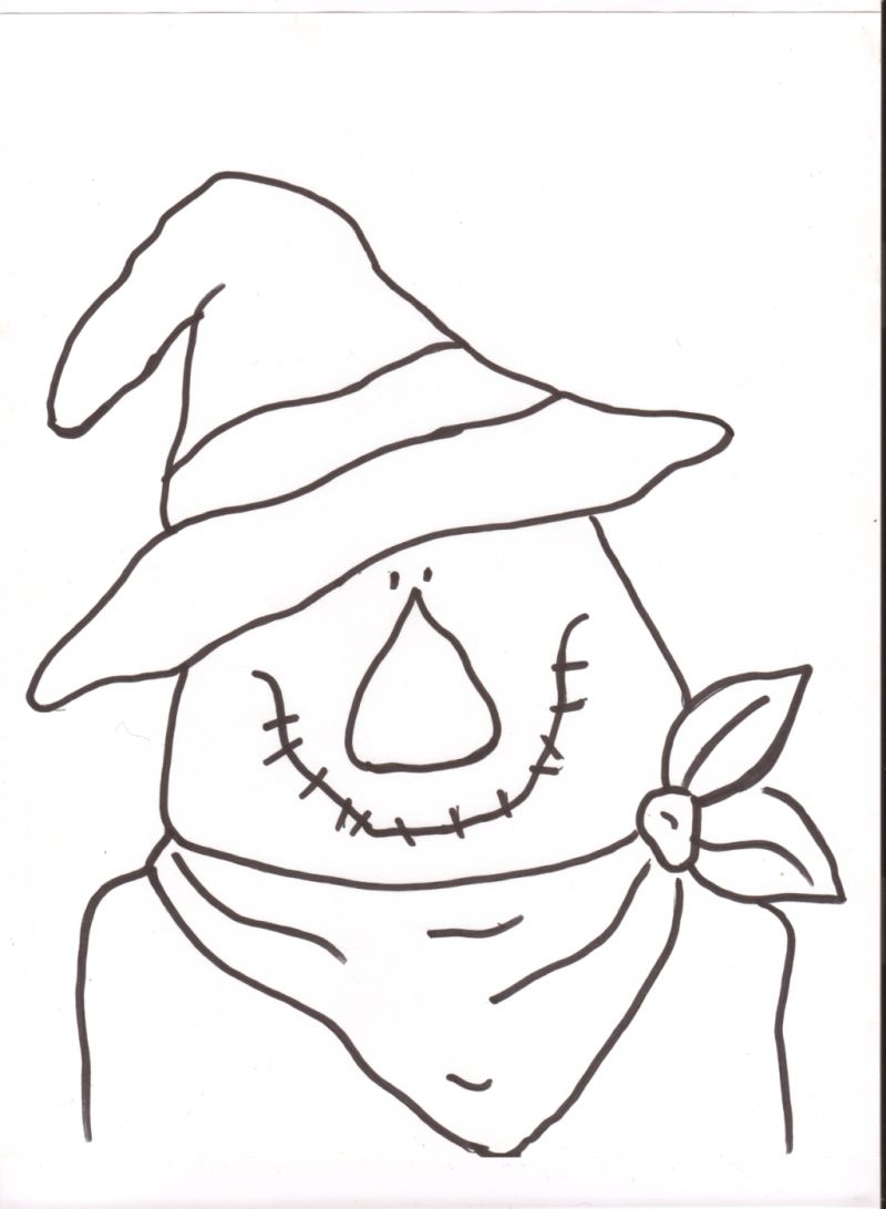 This is a picture of Dynamic Scarecrow Pattern Printable