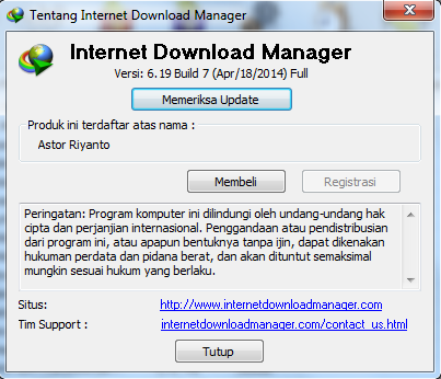 Download Manager Update internet Download manager Bulid 7 With patch