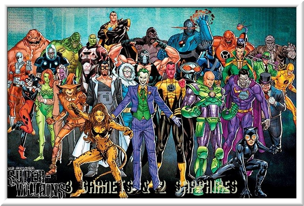 Free Printables DC Comics Super Villains Poster Plus Fun Activity