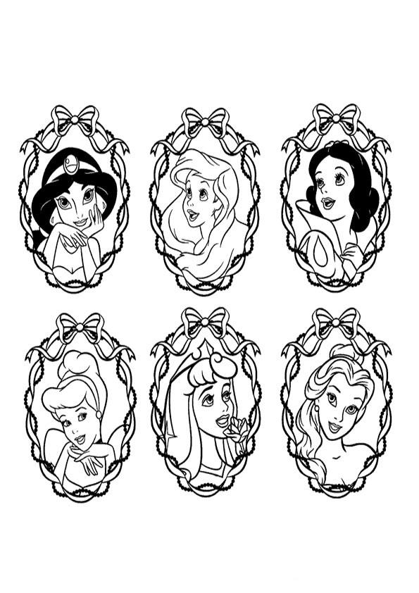 Bonito Disney Princess Y La Rana Para Colorear Imágenes - Dibujos ...