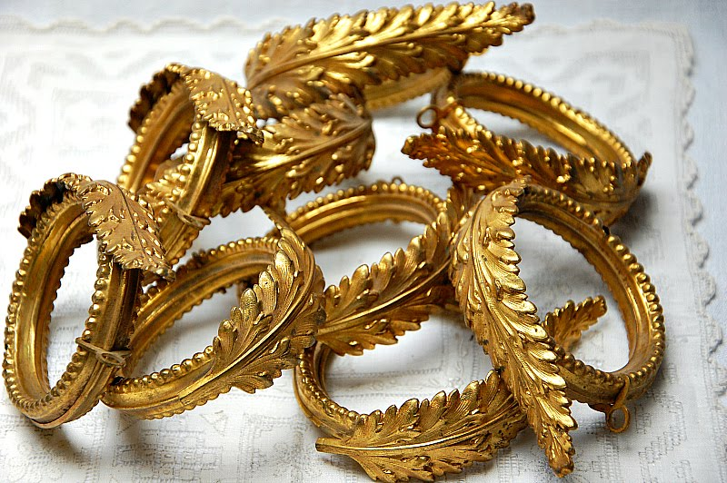 antique curtain rings