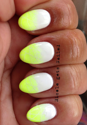 Neon Yellow and White Gradient