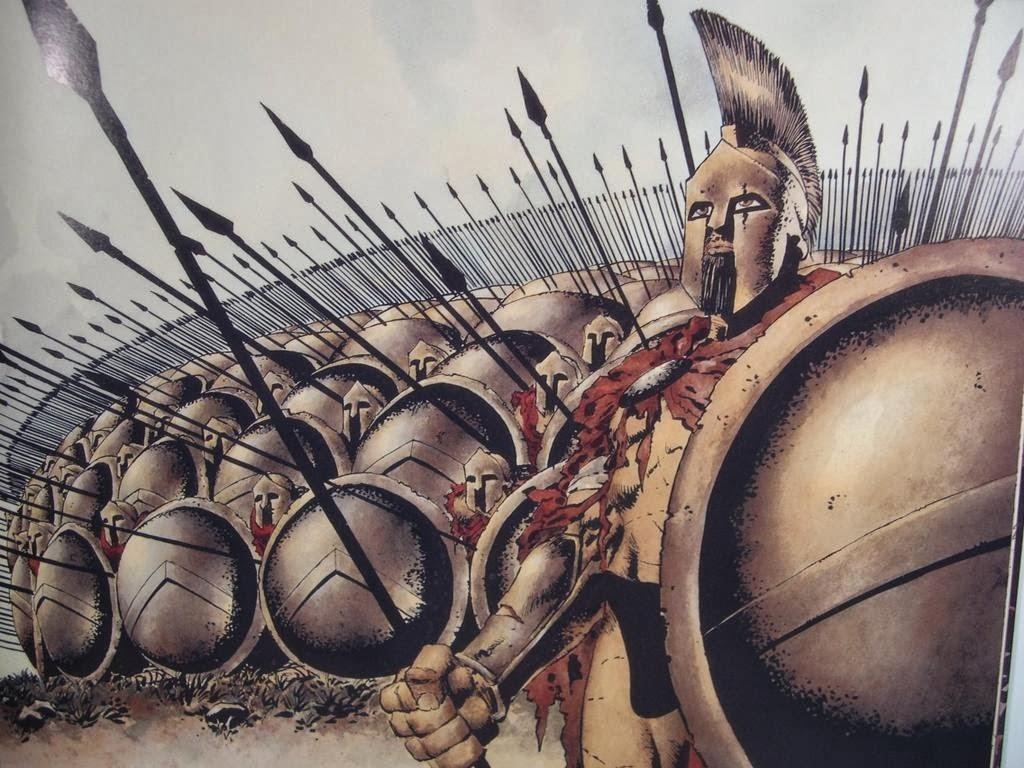 Il fiero Leonida in testa al suo drappello