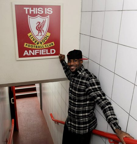 LBJ at Anfield