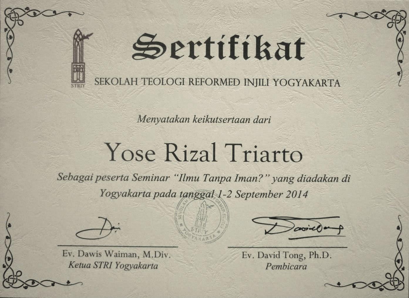 "Seminar ""Ilmu Tanpa Iman"" STRI Yogyakarta"