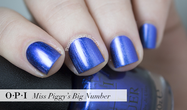 OPI Miss Piggy's Big Number Swatch | The Nailasaurus | British Nail Blog