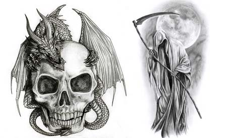Imagenes de la santisima muerte en 3d tattoo design bild for Sillas para tatuar