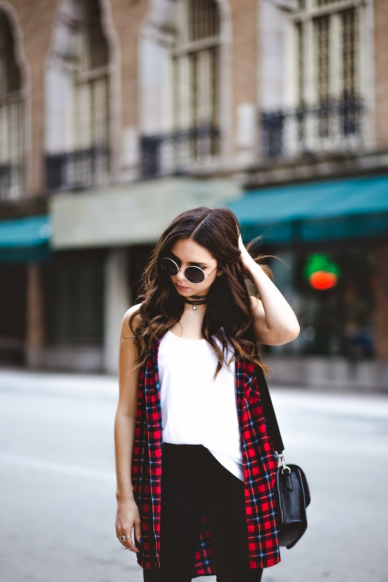plaid shirt, forever 21, shoedazzle brunch, shoedazzle saturdays, f21xme, asos, ripped jeans, black jeans, miami fashion blogger, miami, fashion, outfit, nany's klozet, daniela ramirez