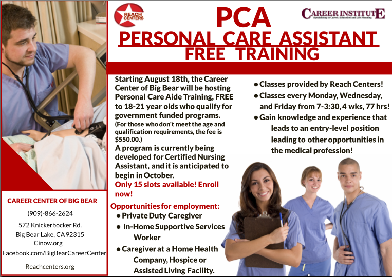 Career Institute Ambassadors Personal Care Aide Course In Big Bear