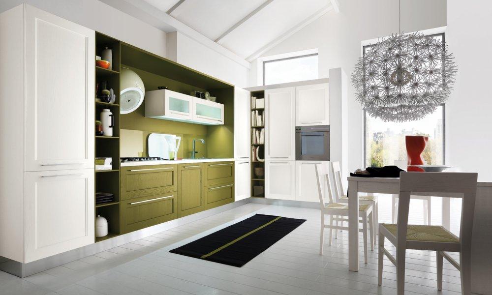 Entre el dise o cl sico y el actual cocinas con estilo - Cocinas verdes y blancas ...