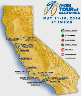Tour of California 2015 route