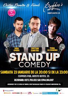 Stand-Up Comedy Sambata 23 Ianuarie Bucuresti de la 20 si de la 23
