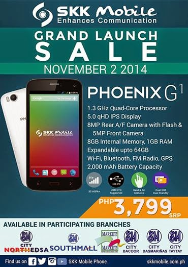 SKK Mobile Phoenix G1 Grand Launch Sale on November 2