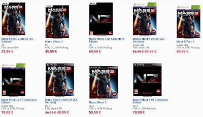 Mass Effect 3 (AT-Version) für PS3 und Xbox 360 für 49,99 Euro vorbestellen
