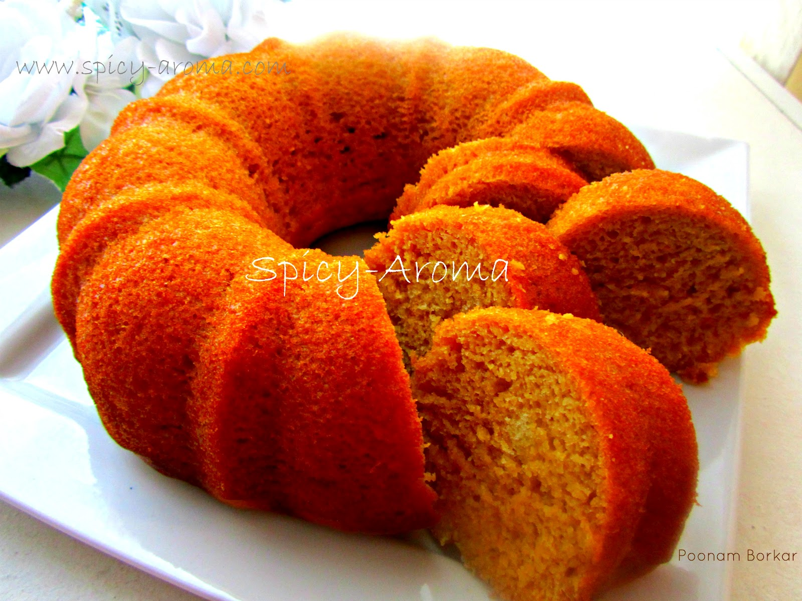 Mango Upside Down Cake Eggless