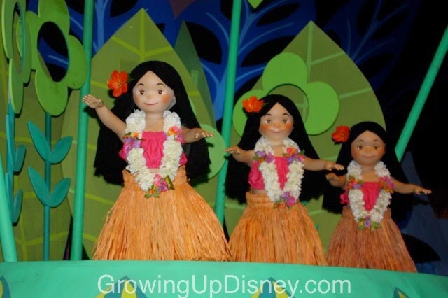 it's a small world, magic kingdom, walt disney world, hula dancers, hawaiian dolls