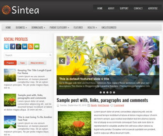 Sintea Blogger Magazine Template