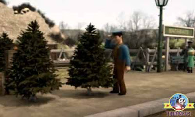 Seeing the striking winter Christmas tree lovely decorations Dart and Den diesel engines hooted