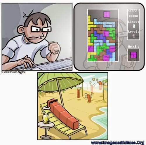 Tetris de vacaciones,  imágenes chistosas para compartir