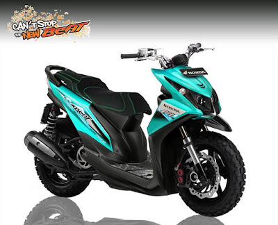 modifikasi motor honda beat sederhana, modifikasi motor beat xrider