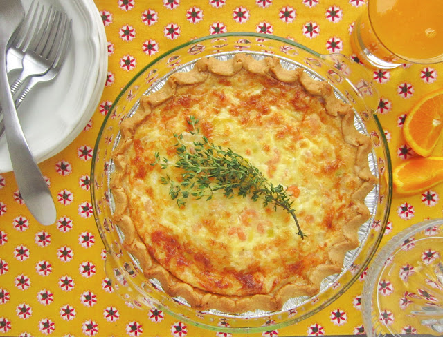 ... !: Shrimp and Leek Swiss Cheesy Quiche for Springtime #SundaySupper