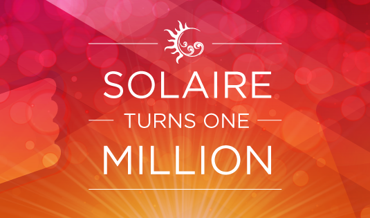 "Solaire Moment: ""ONE Million FB Fans in ONE Year"""