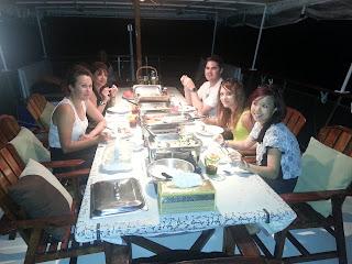 Phuket Sunset Cruise and dinner - set menu dinner at table