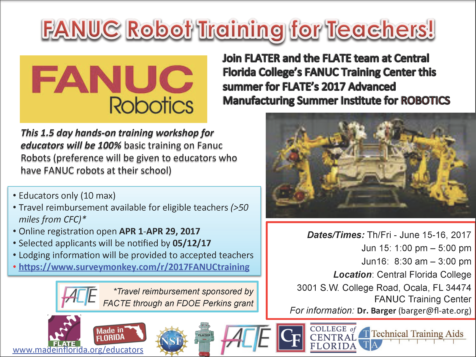 FANUC Robot Training for Teachers