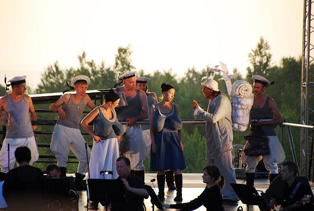 Паруса на закате в Губахе