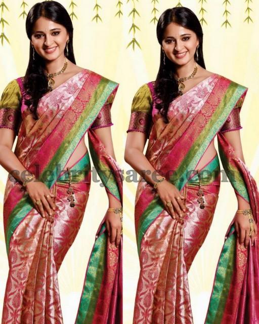 Anushka Shetty Silk Saree Ad