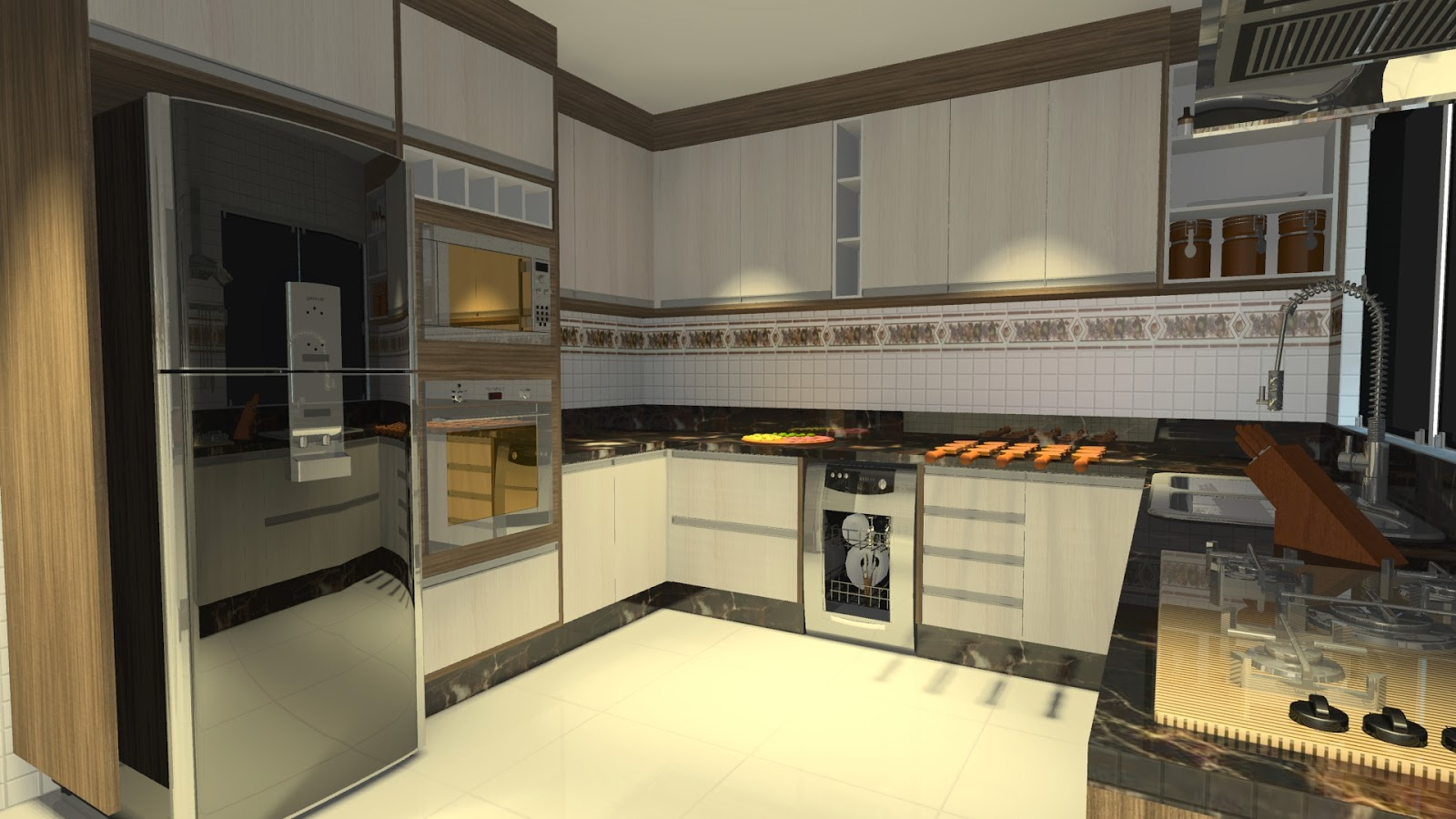 Ateliê de Ideias e Projetos : Cozinhas americanas ou não veja como  #B5A316 1600 900