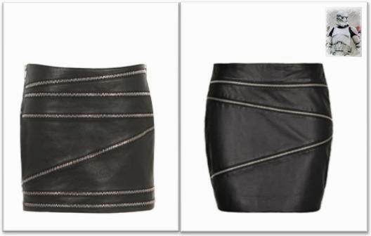 Clon falda cremalleras Saint Laurent