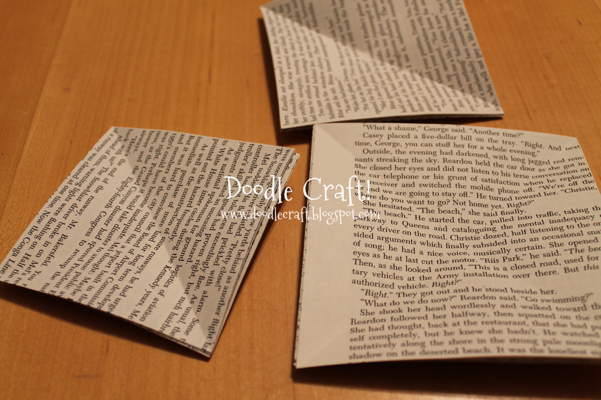doodlecraft upcycled book page glitter pinwheels
